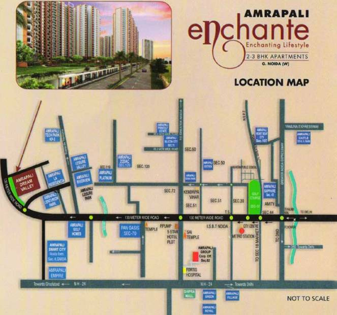 Images for Location Plan of Amrapali Enchante