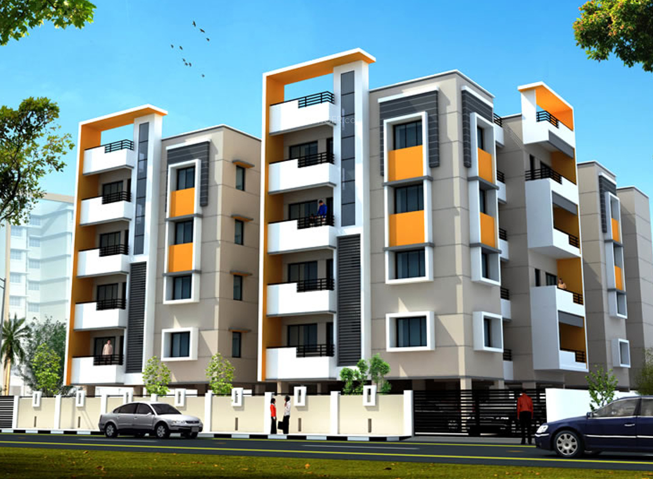 1955 sq ft 3 bhk 3t apartment for sale in mayflower gvd for Apartment plans and elevations