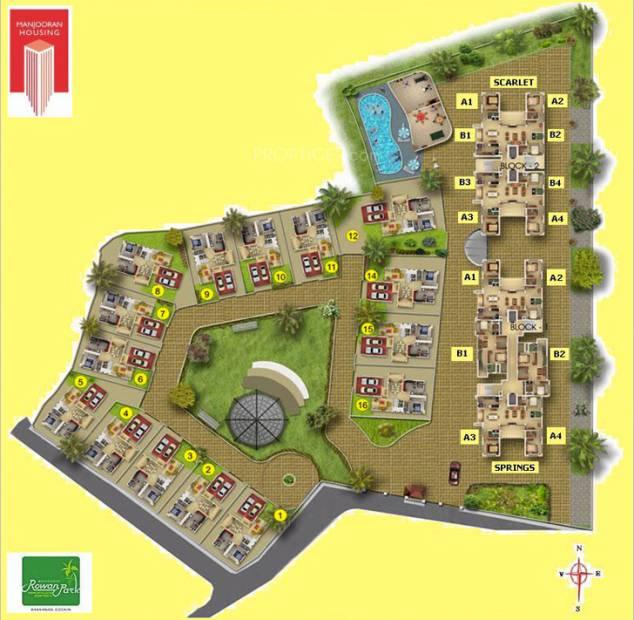 scarlet Images for Site Plan of Manjooran Scarlet
