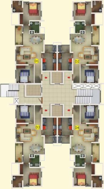Images for Cluster Plan of Manjooran Scarlet