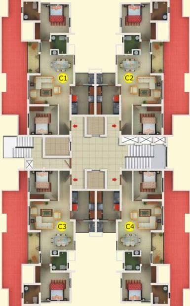 scarlet Images for Cluster Plan of Manjooran Scarlet