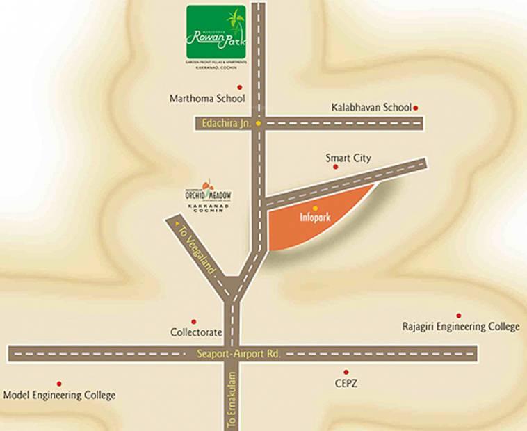 scarlet Images for Location Plan of Manjooran Scarlet