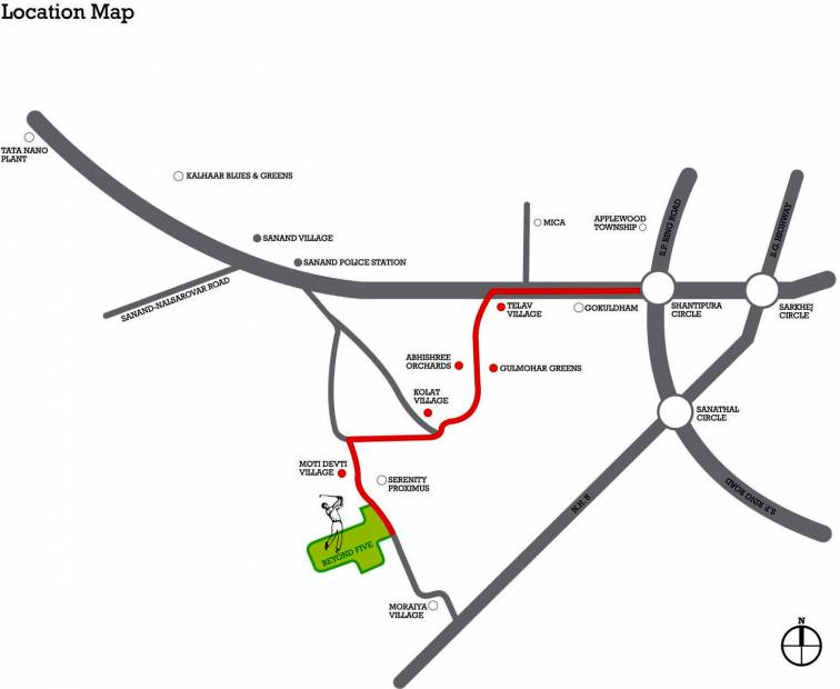 Images for Location Plan of Arvind Beyond Five Villas