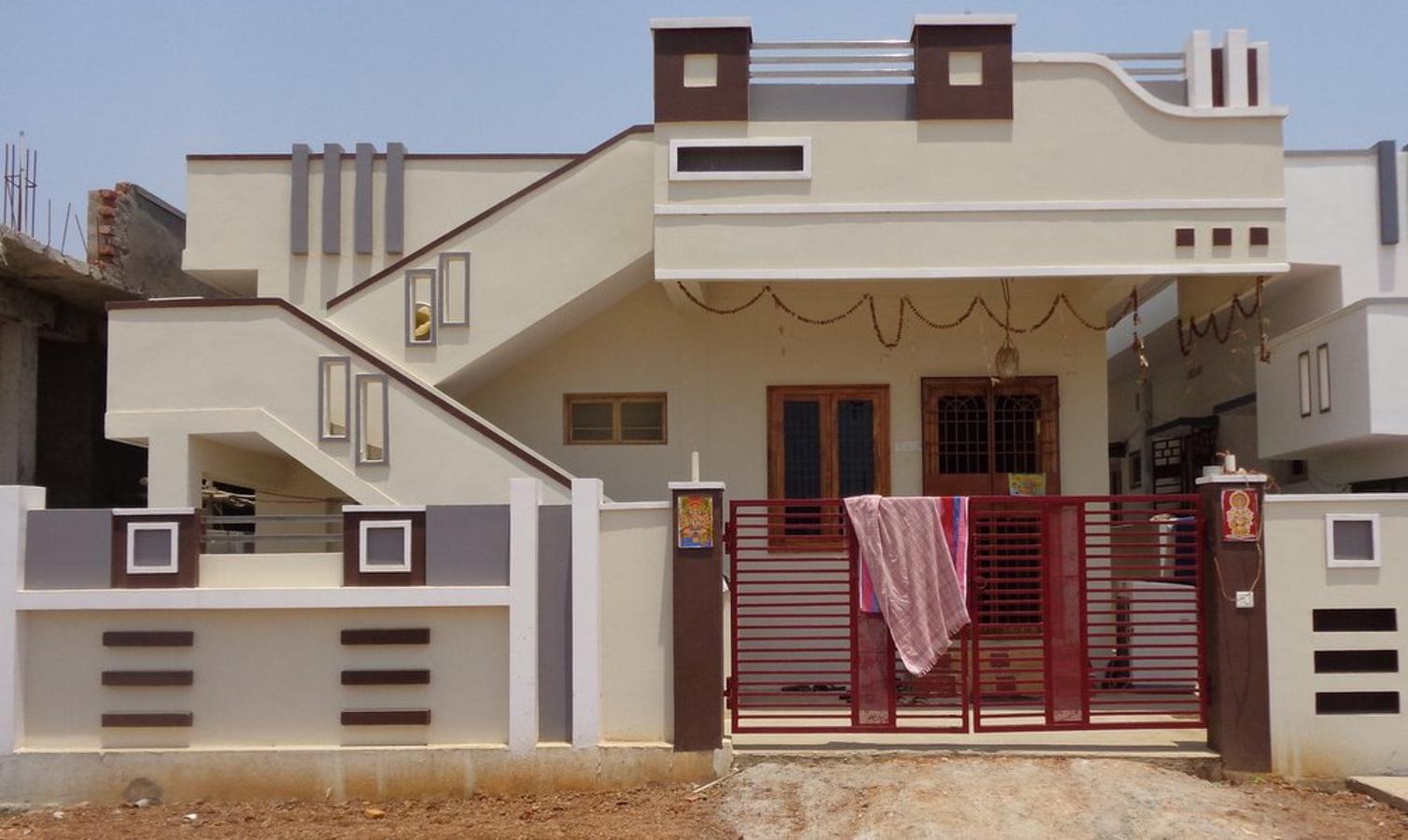 Front Elevation Independent House : Stbl sita rama gardens phase i in sheela nagar