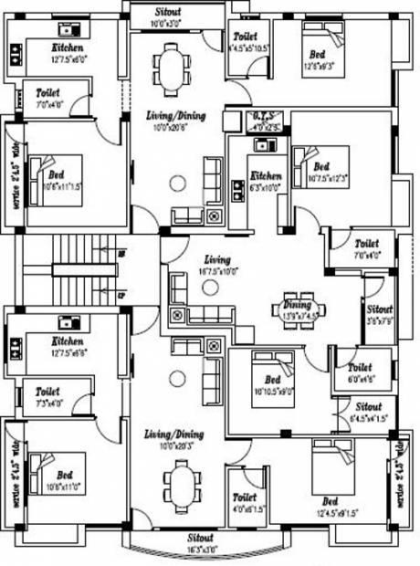 Images for Cluster Plan of Krishna Vaikundam