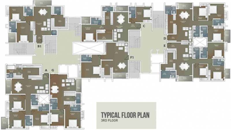 Images for Cluster Plan of Artech Courtyard