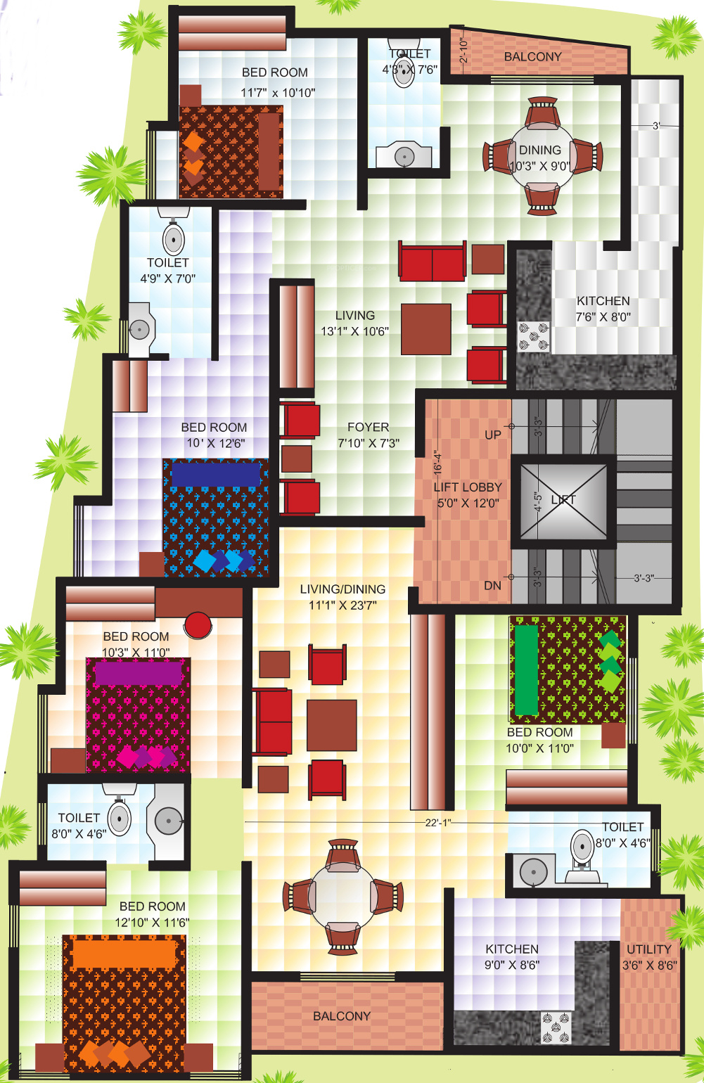 1000 Sq Ft 2 Bhk 2t Apartment For Sale In Bhumika Builders