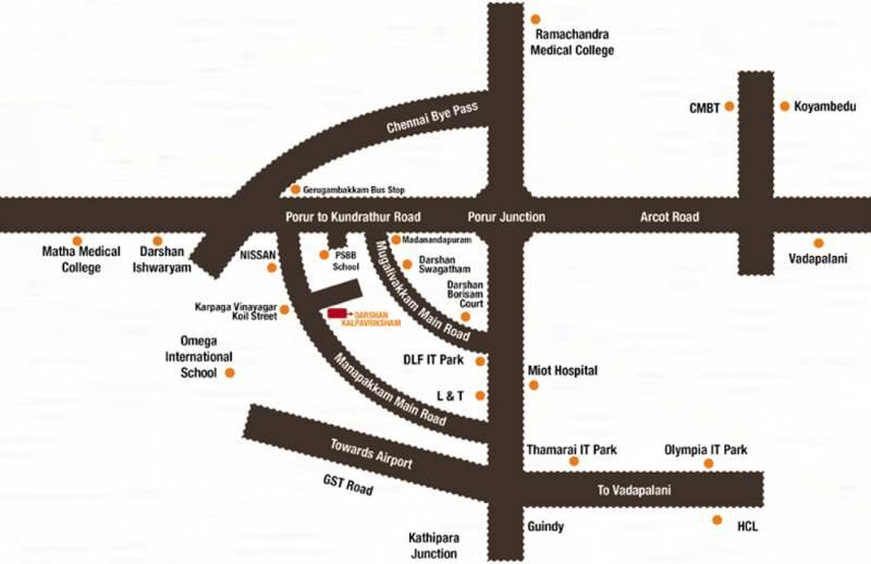 Images for Location Plan of Poojaa Foundation Darshan Kalpavriksham
