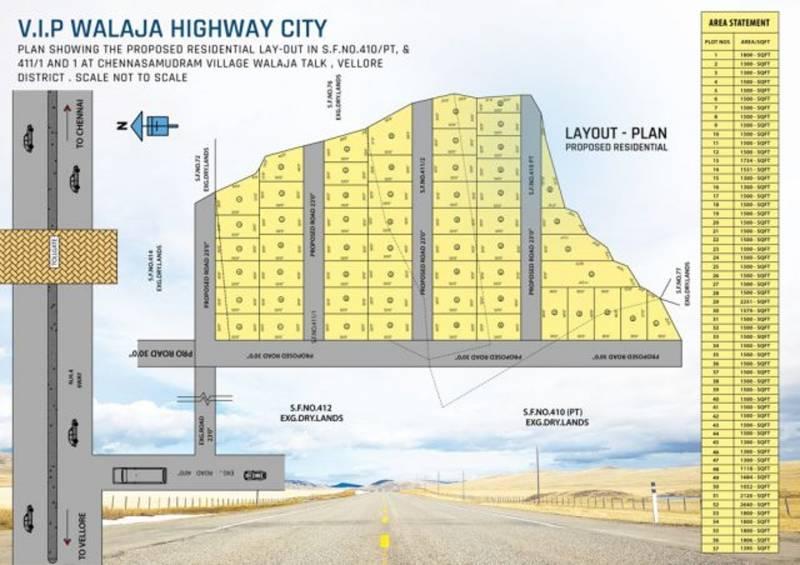 mazia-properties vip-walaja-highway-city Layout Plan