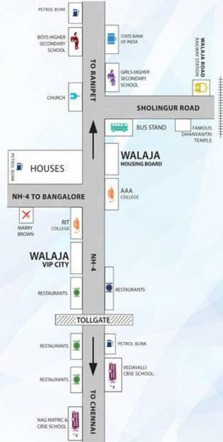 mazia-properties vip-walaja-highway-city Location Plan