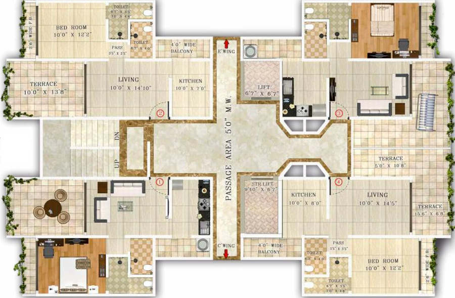 720 sq ft 1 bhk 2t apartment for sale in anmol associates for 720 sq ft apartment floor plan