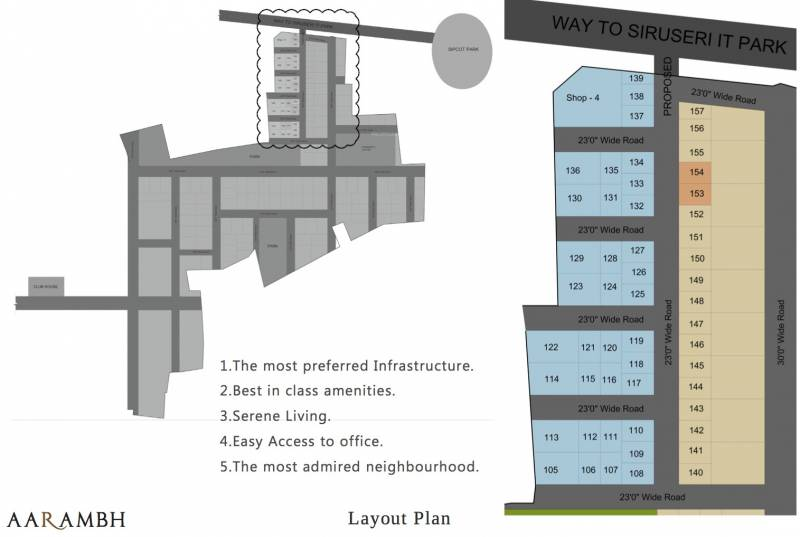 Images for Layout Plan of South Aarambh