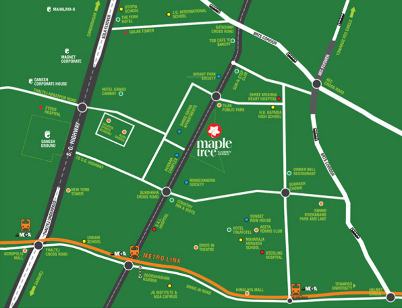 Images for Location Plan of Ganesh Maple Tree