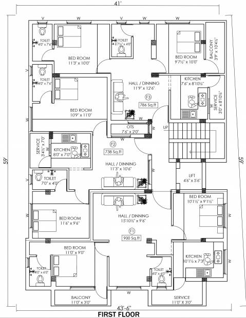 Images for Cluster Plan of New Age Perungudi