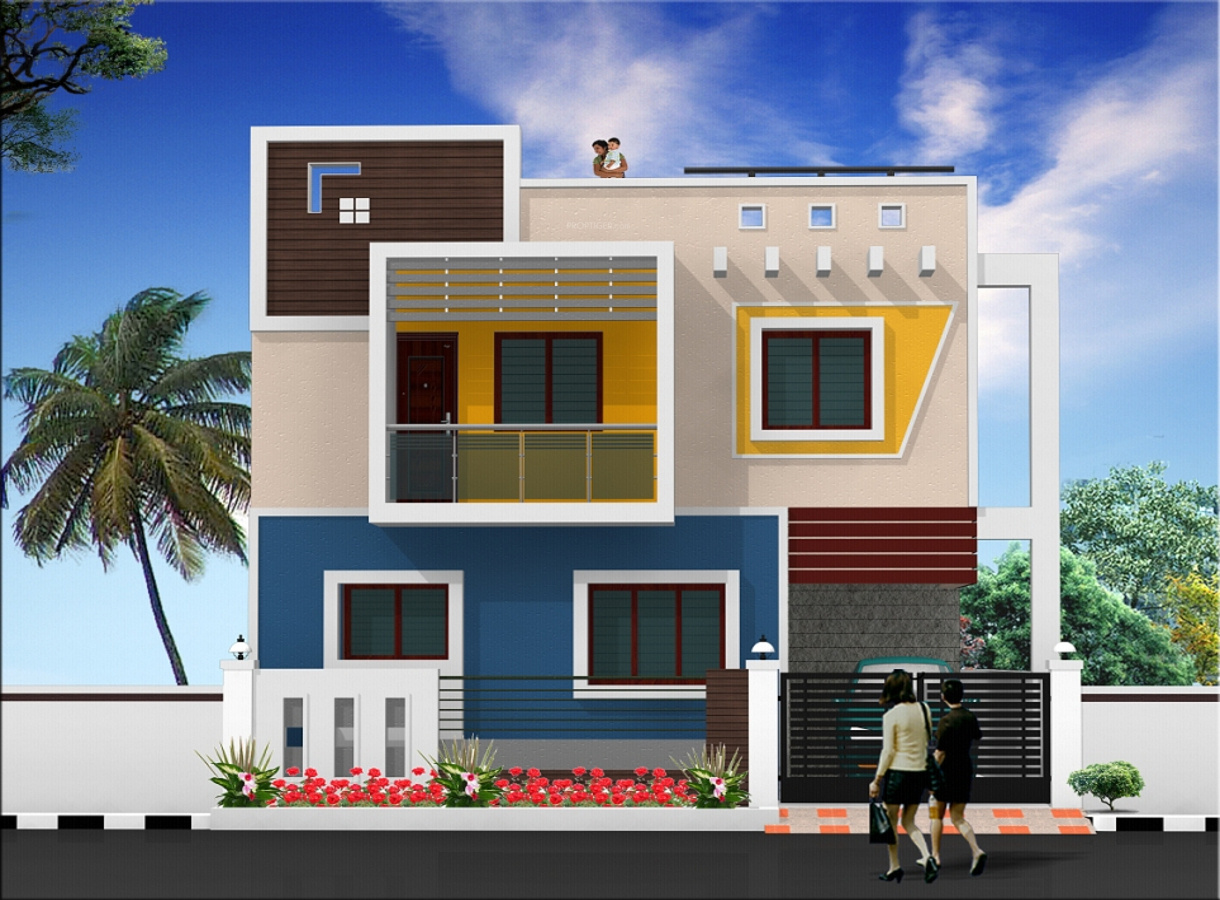 N Home Elevation Zip : Sq ft bhk t villa for sale in sb properties
