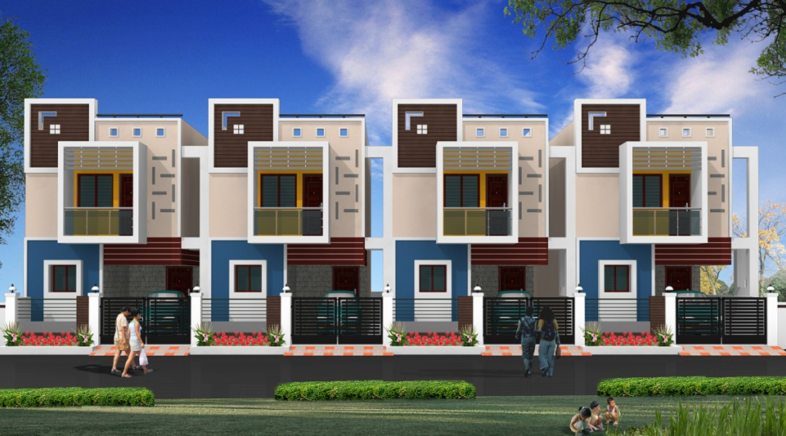 1800 sq ft 3 bhk 3t villa for sale in sb properties for Villa elevation photos