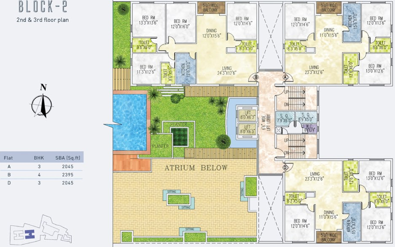 2380 Sq Ft 4 BHK 3T Apartment For Sale In Jain Group Dream