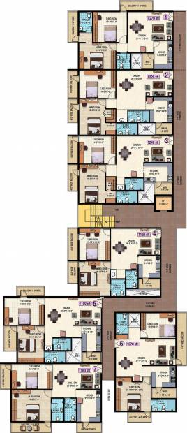 keystone-properties anjan-blossom Anjan Blossom Cluster Plan from Ground to 4th Floor