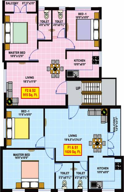 vikaan-shelters emerald-park Emerald Park Cluster Plan from 1st to 2nd Floor