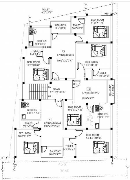 ganesha-phase-2 Ganesha Phase 2 Cluster Plan for 1st Floor