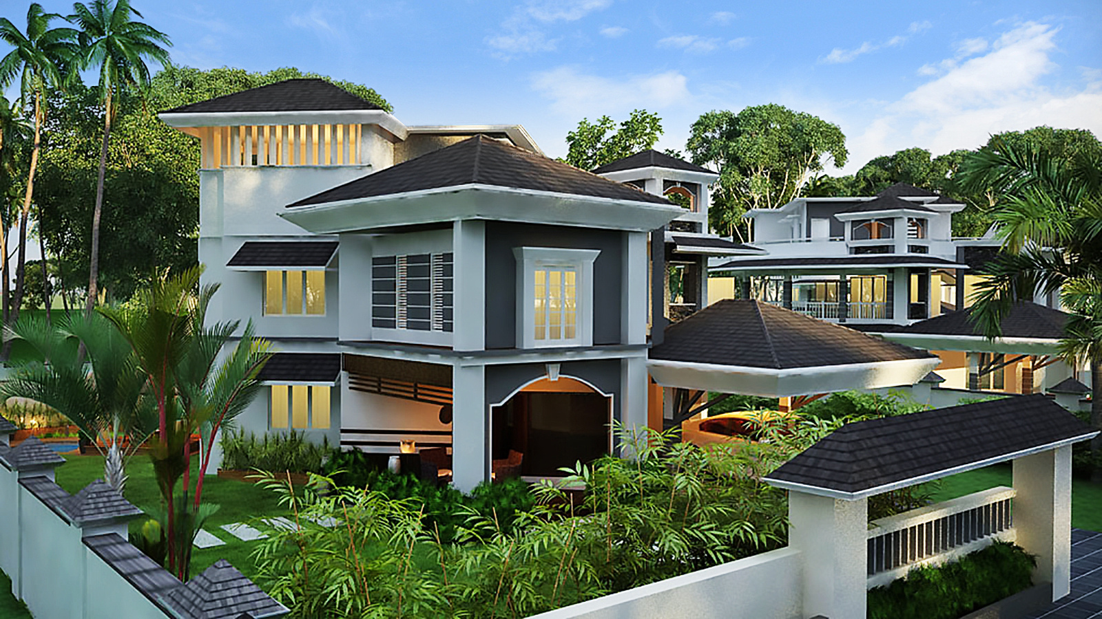 4748 sq ft 4 bhk 6t villa for sale in anna properties for Villa elevation photos