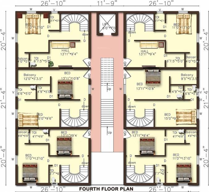 Images for Cluster Plan of Rajeswari Sunshine Suites