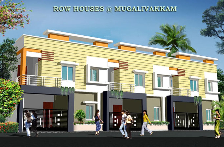 1053 sq ft 2 bhk floor plan image rajeswari for Row housing plans