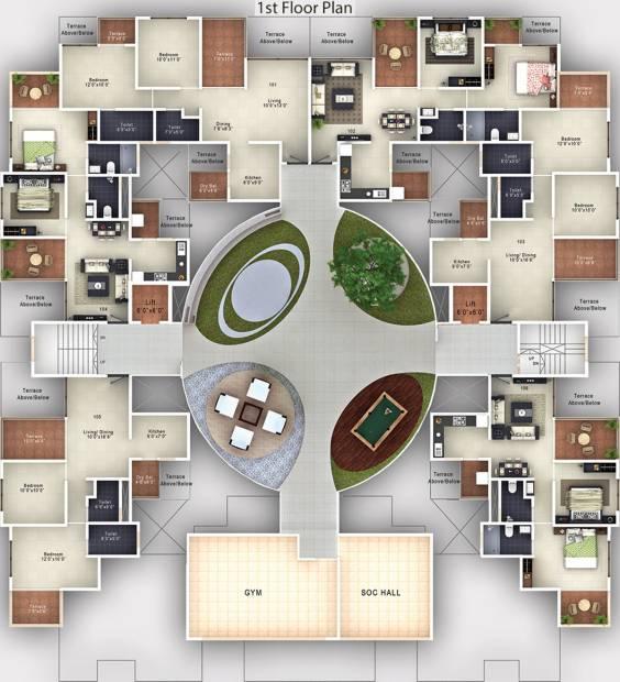 Images for Cluster Plan of Neev Saheels Calysta