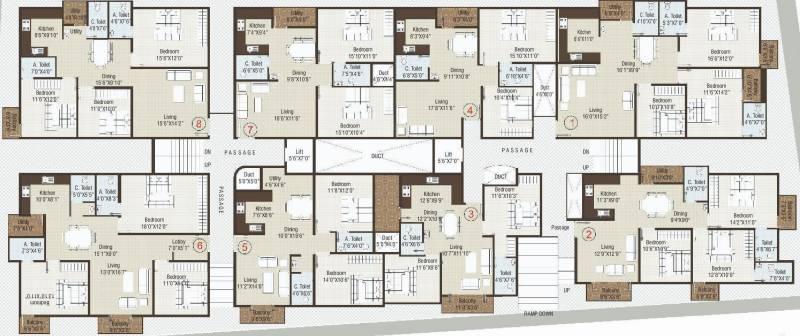 elite-unique Elite Unique Cluster Plan from Ground to 3rd Floor
