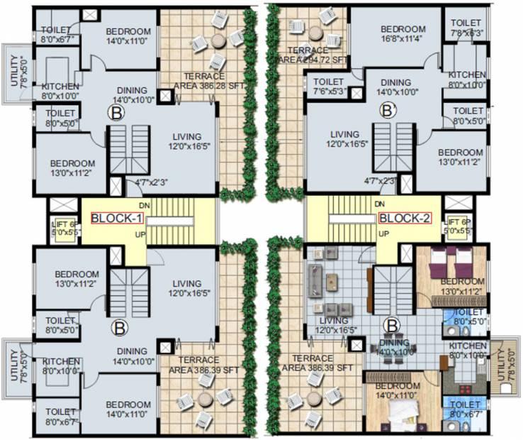 Images for Cluster Plan of Hinduja El Jardin