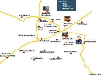 kalyan nagar bangalore map Image Of Location Map Of Hiren Wahen Archstone Kalyan Nagar kalyan nagar bangalore map