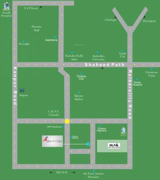 enclave Images for Location Plan of Alaknanda Enclave