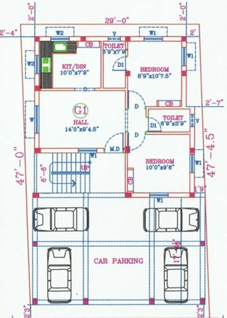 Images for Cluster Plan of DSR Nehaa Sree Flats
