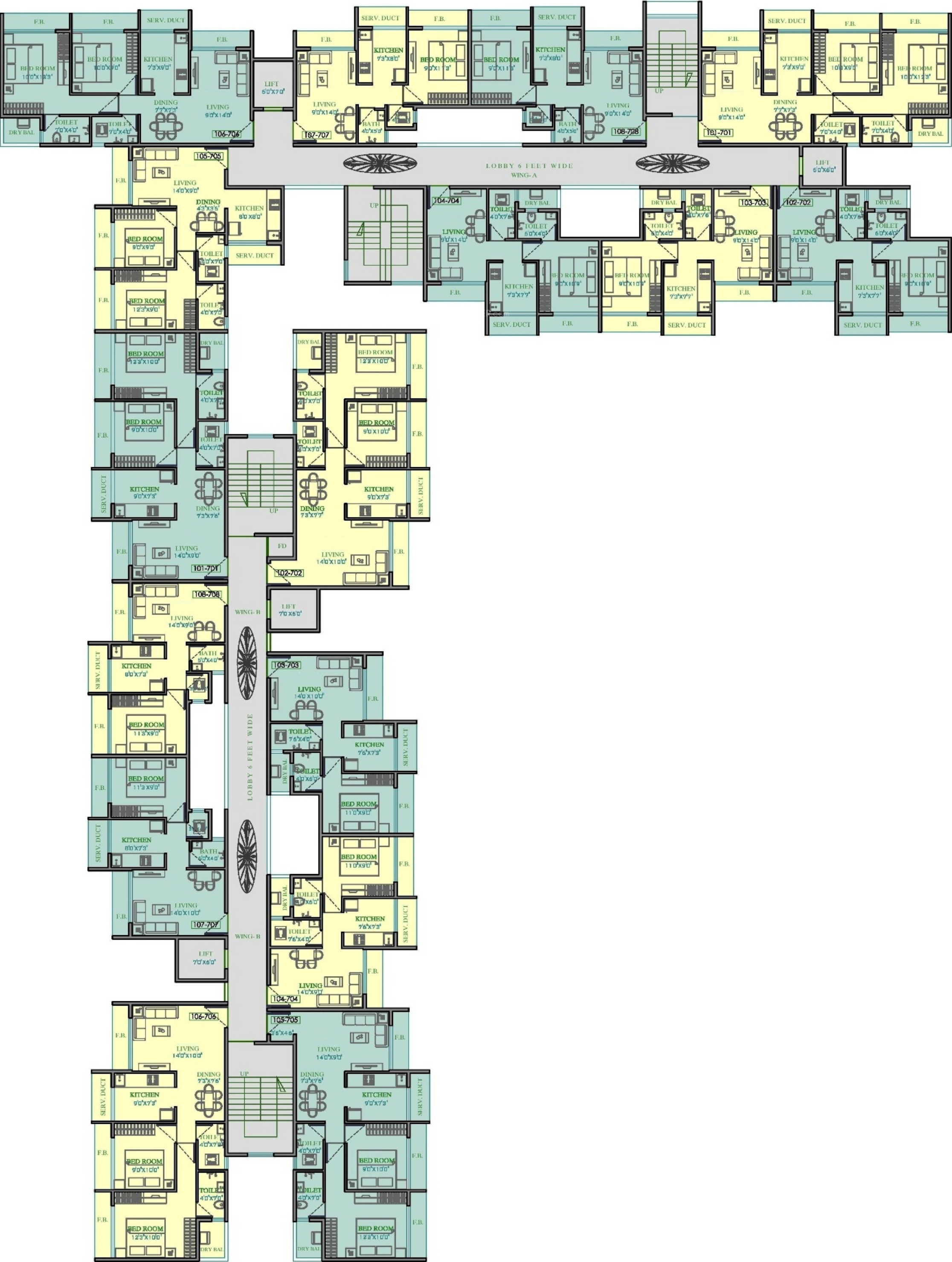 1010 Sq Ft 2 Bhk 2t Apartment For Sale In Om Aditya Group