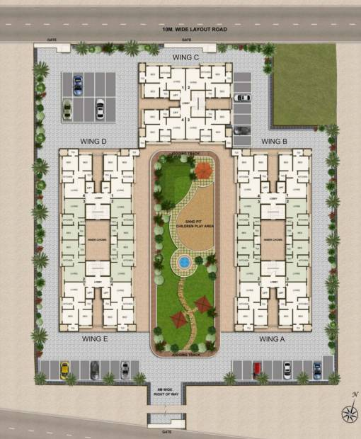Images for Site Plan of Shree Krishna Eastern Winds