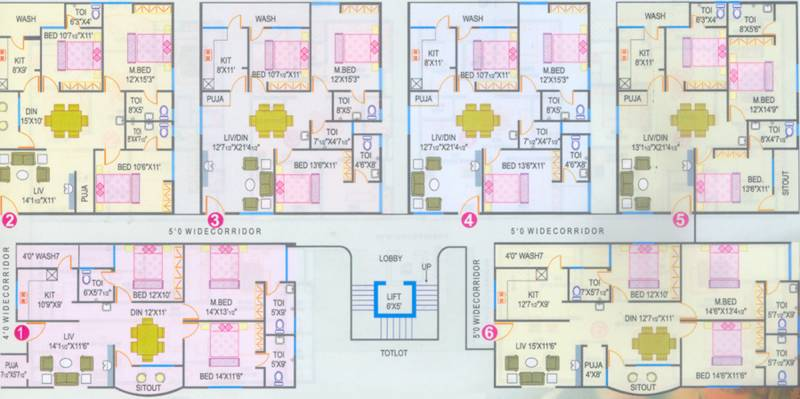 Images for Cluster Plan of RNG Raghunath Residency