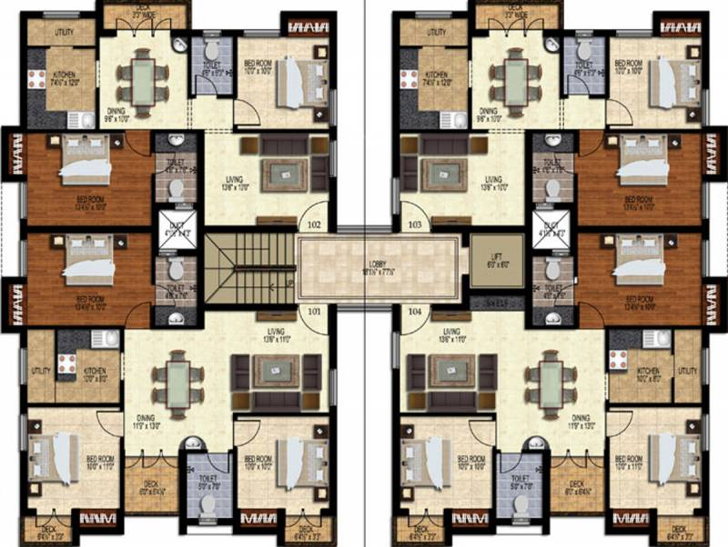 enclave Images for Cluster Plan of Orchid Enclave