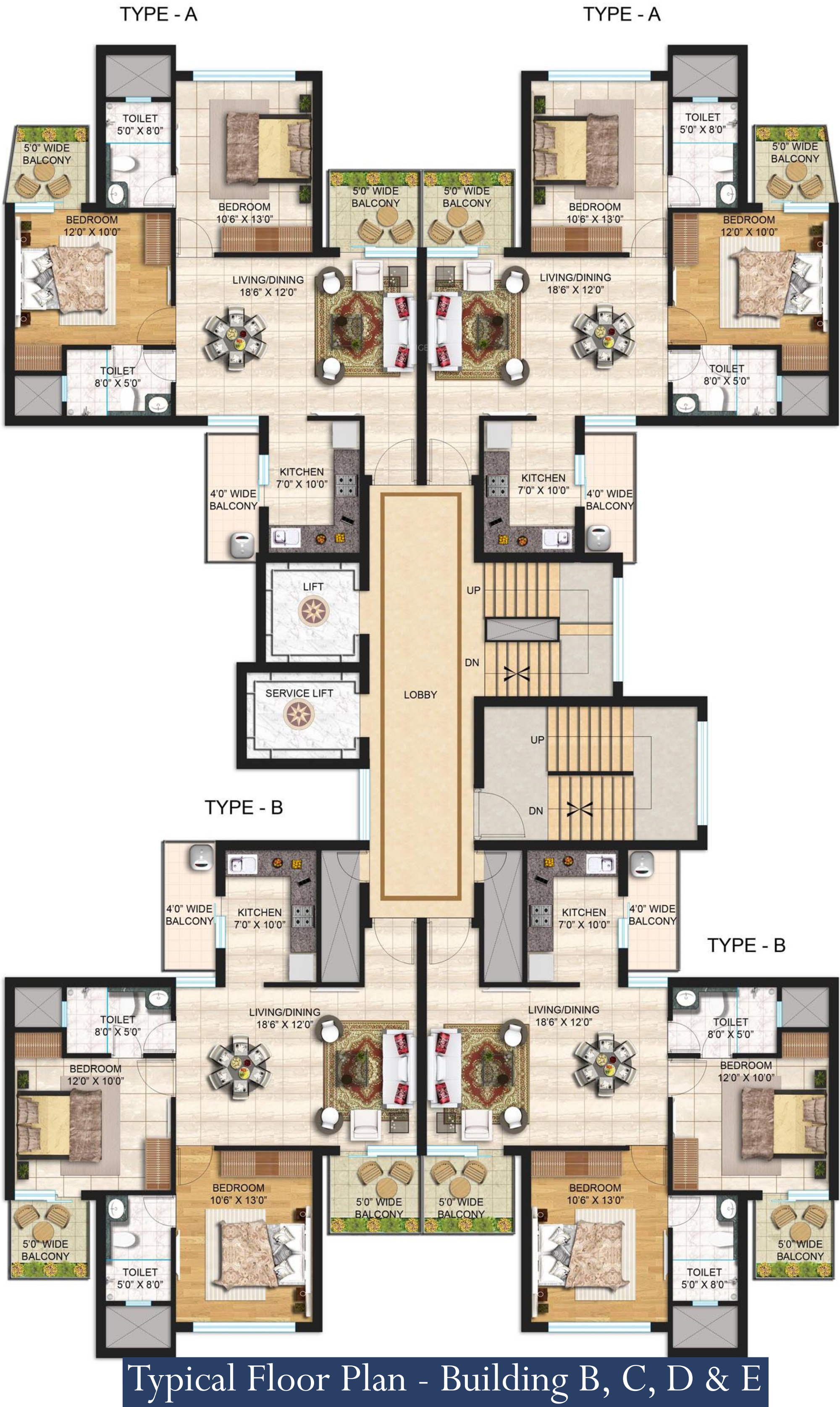 2d kitchen design 1065 sq ft 2 bhk 2t apartment for in janta land 1065
