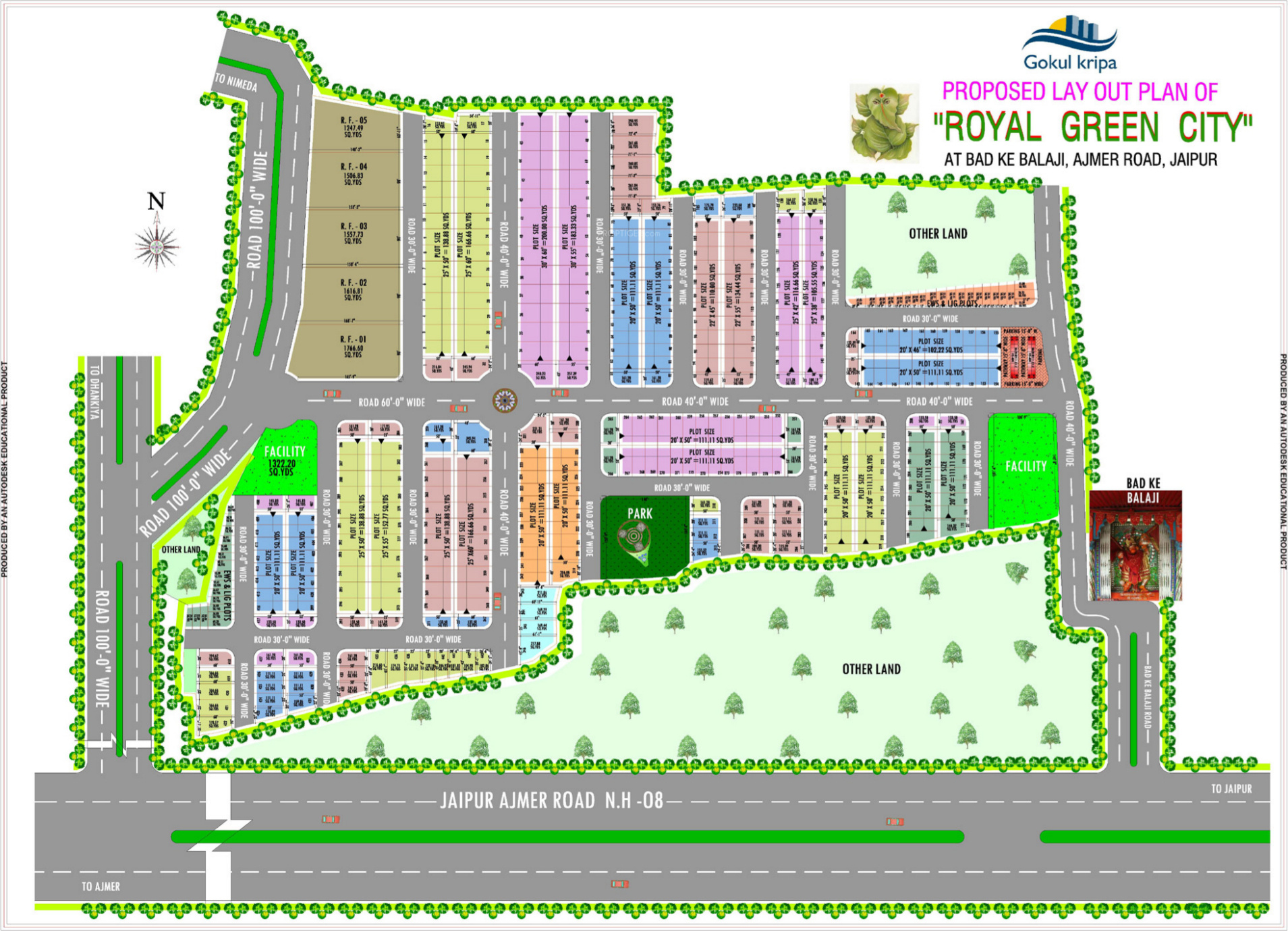 Elevation Plan Layout : Sq ft plot for sale in gokul kripa colonizer and