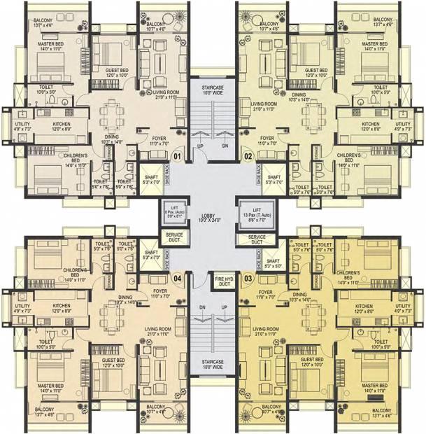 Images for Cluster Plan of Nirmaan Gokul Residency