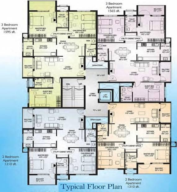 Images for Cluster Plan of Nirmaan Bhargavi Gloria Residency