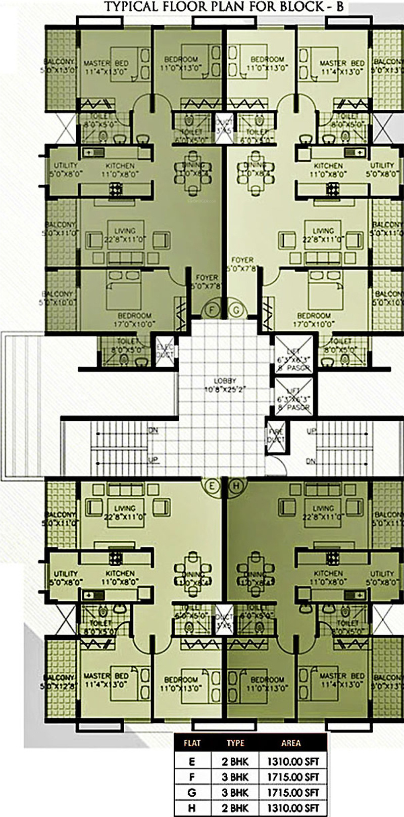 1550 sq ft 2 bhk 2t apartment for sale in citadel for Apartment floor plans for sale