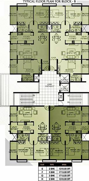 Images for Cluster Plan of Citadel Developers Jade Apartments