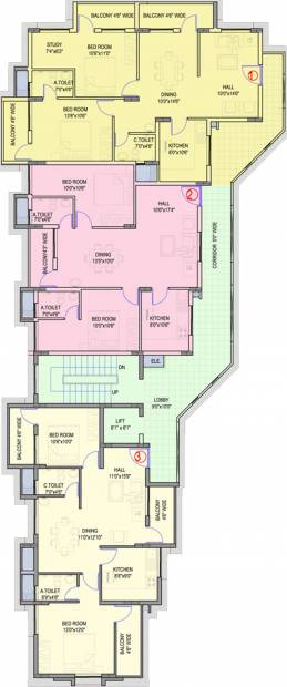 Images for Cluster Plan of Guardian Shanthala Aashiyana C and D