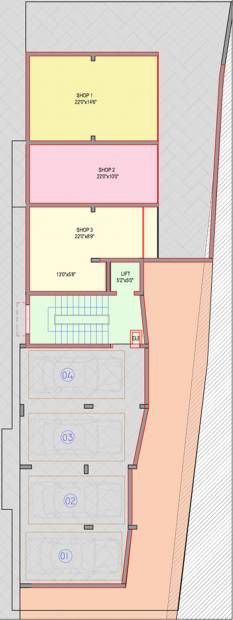 guardian-infrastructure shanthala-aashiyana-c-and-d Block D Cluster Plan for basement Floor