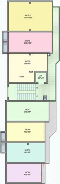 guardian-infrastructure shanthala-aashiyana-c-and-d Block D Cluster Plan for ground Floor