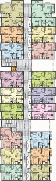 guardian-infrastructure shanthala-shravan-residency Wing A, Wing B and Wing C Cluster Plan from 1st to 4th Floor