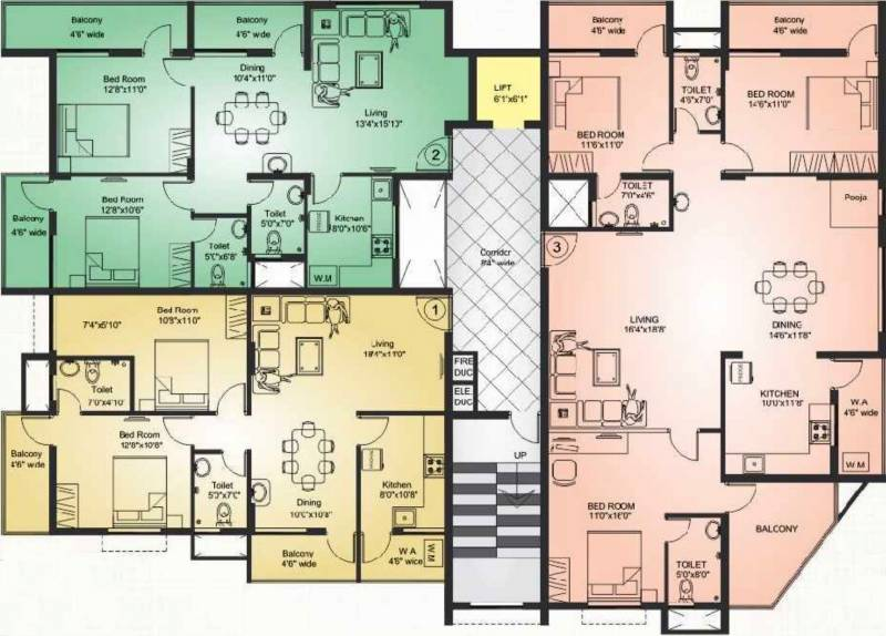 guardian-infrastructure shanthala-khushi Shanthala Khushi Cluster Plan from 2nd to 5th Floor