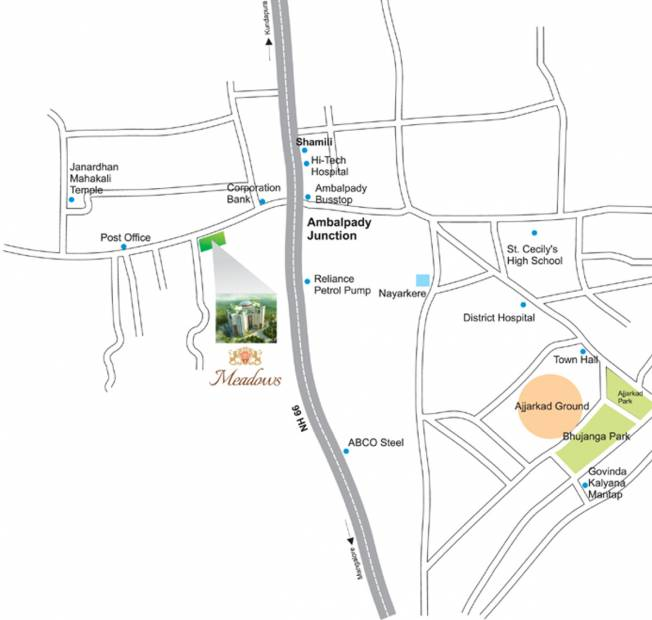 meadows Images for Location Plan of BR Property Developers Private Limited Meadows