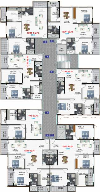 Images for Cluster Plan of Sharada Residency